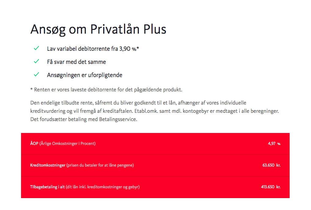 Santander Privatlån Plus
