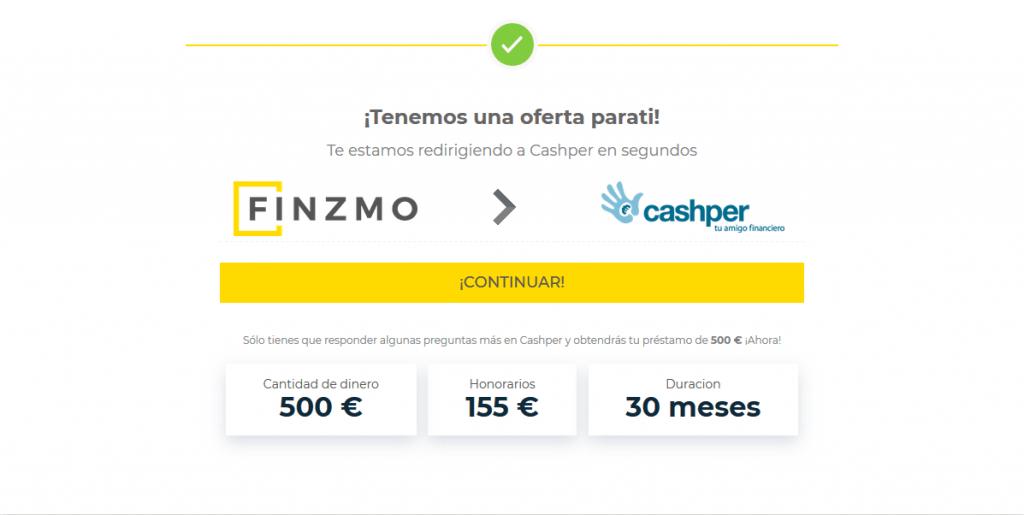 Cashper y Finzmo