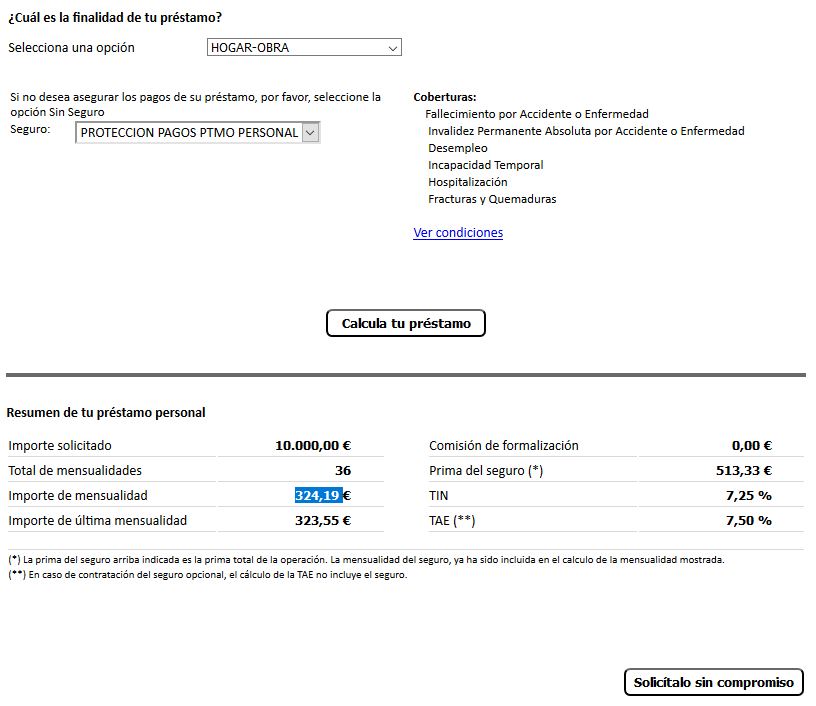 préstamo de evofinance