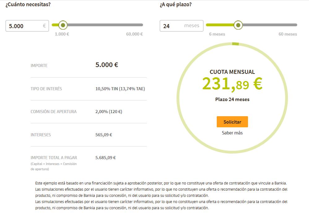Opinión de Bankia y su simulador