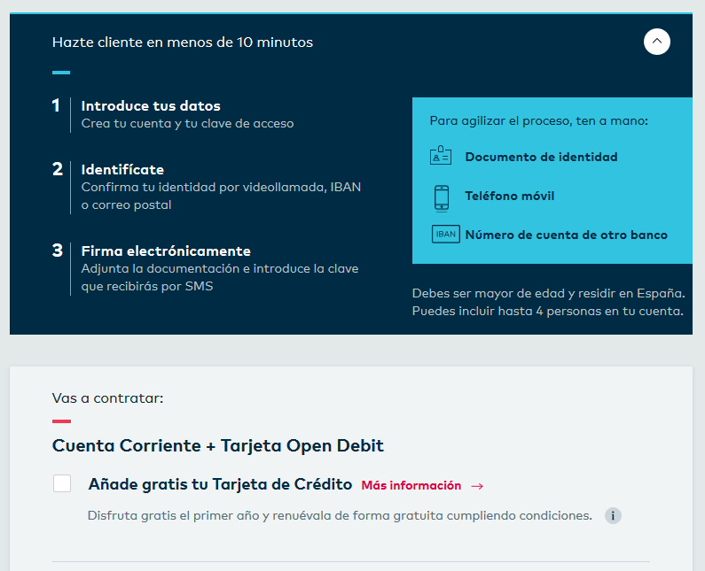 Pasos registro openbank