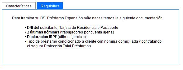 Documentación préstamo de Sabadell