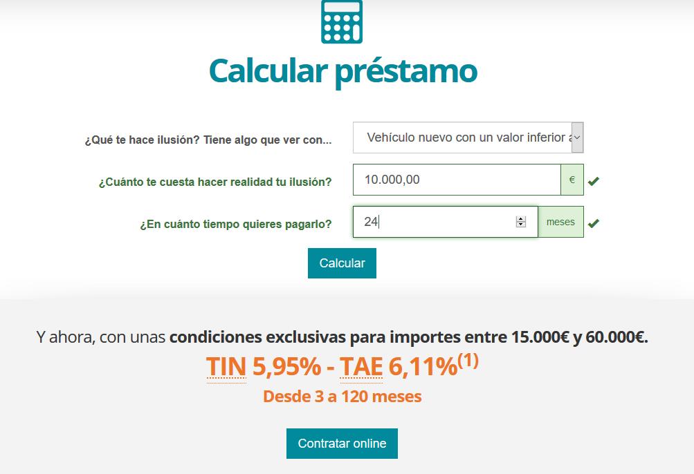Opinión Cajamar - Calculadora