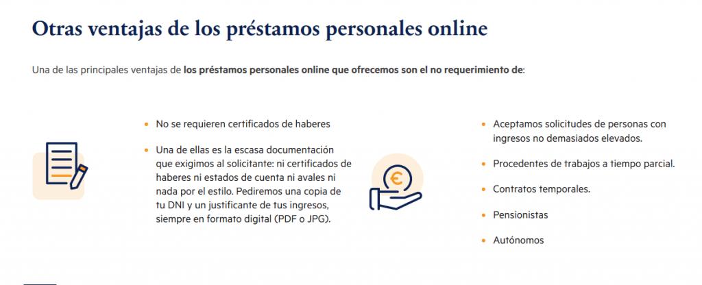 Plazo - Ventajas de los préstamos personales online