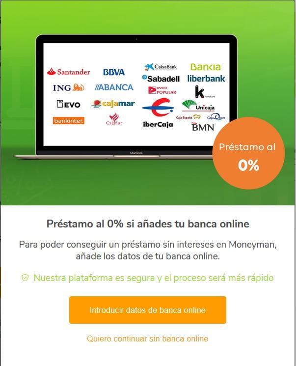 MoneyMan pedir crédito sin banca online