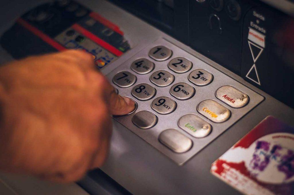pin en el cajero automático
