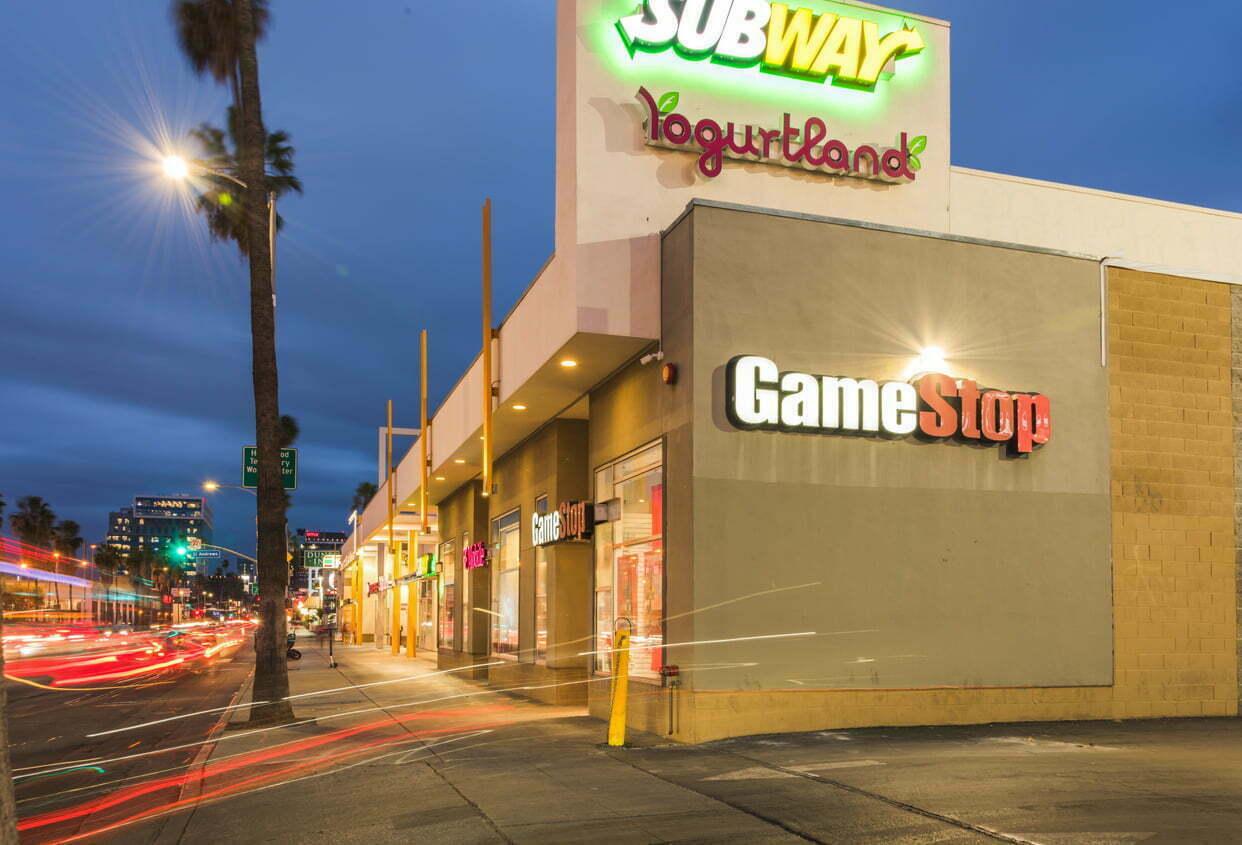 Tienda de GameStop en Sunset Boulevard, Los Ángeles, Enero de 2021