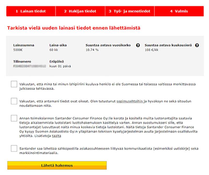 Santander laina kokemuksia