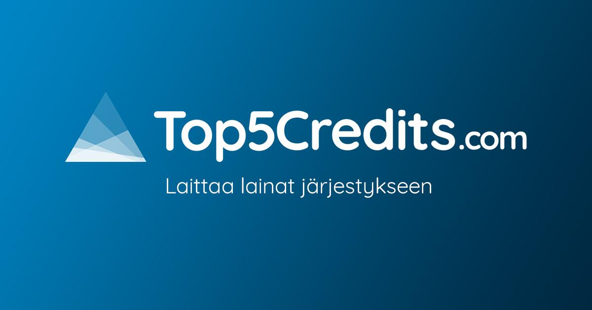 Top5Credits - Laittaa lainat järjestykseen