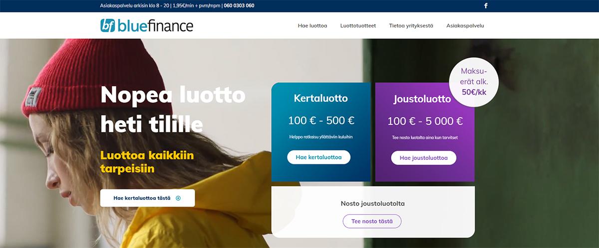 Blue finance kokemuksia kertaluotosta | Katso laina-arvostelu