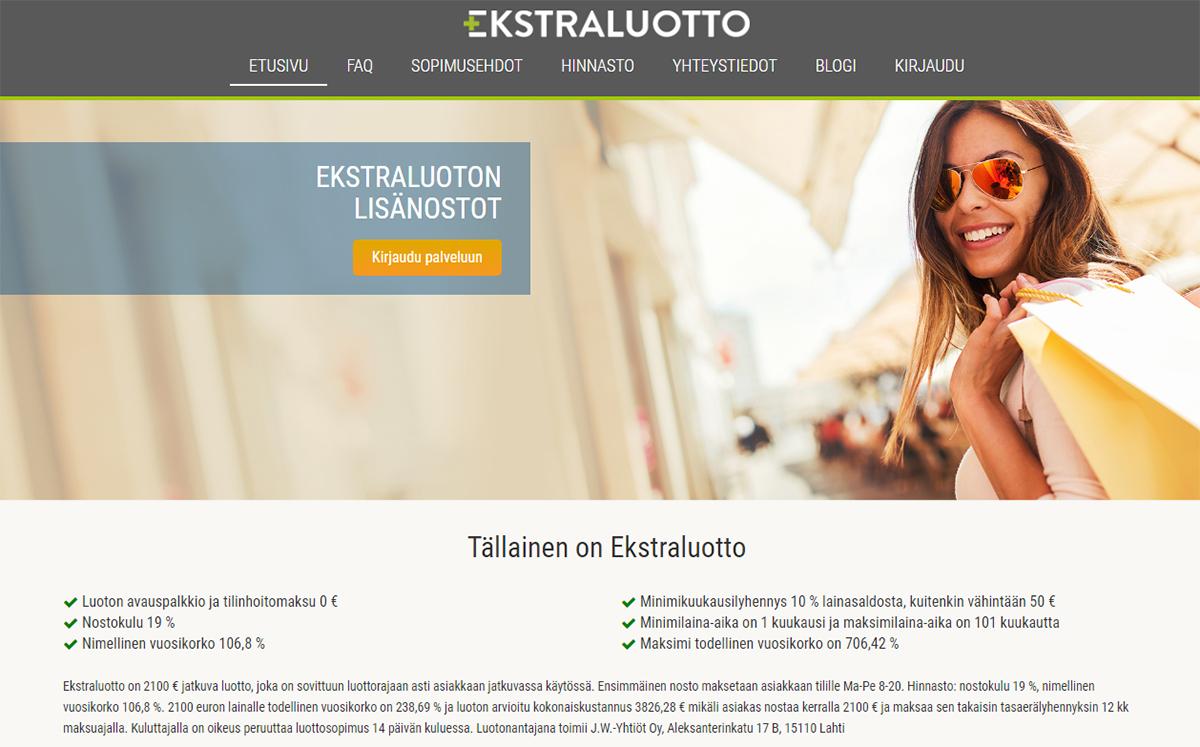 Kokemus Ekstraluotosta | Katso laina-arvostelu Top5Credits.com Suomi