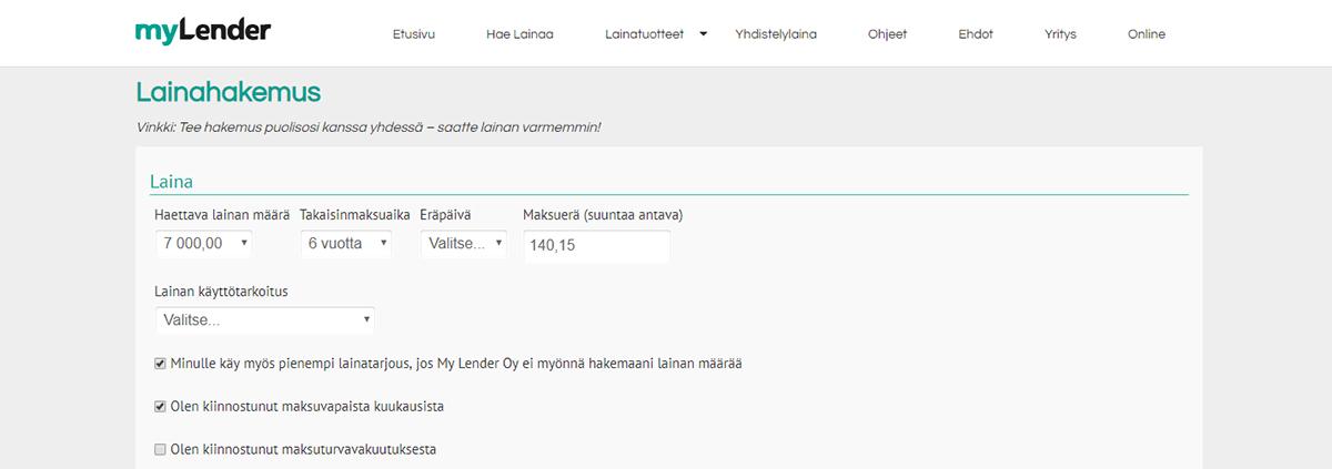 Kokemus MyLenderistä | Katso laina-arvostelu