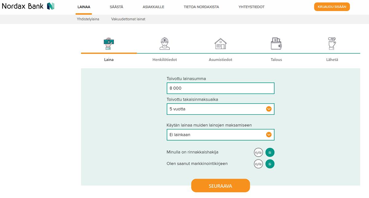 Nordax laina | Nordax bank kokemuksia lainasta