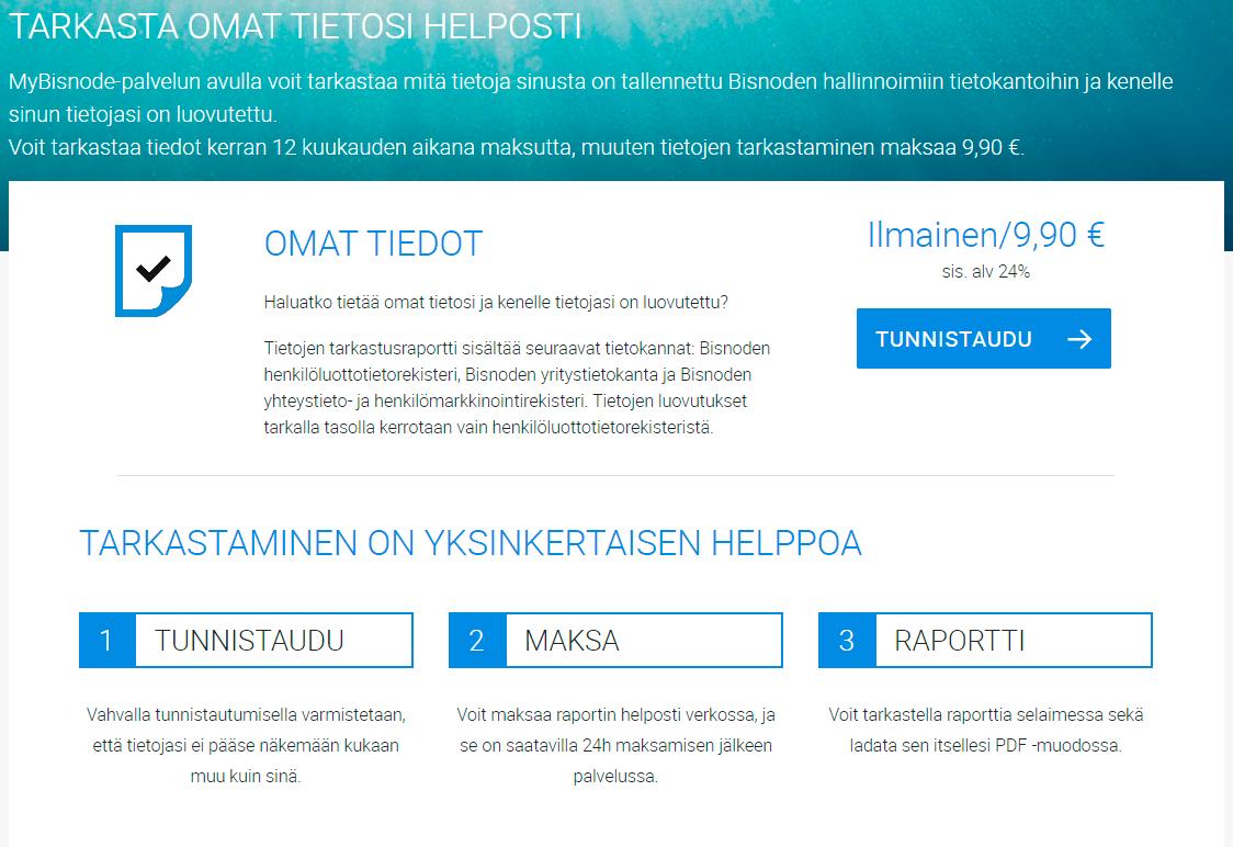 Bisnode verkkosivut