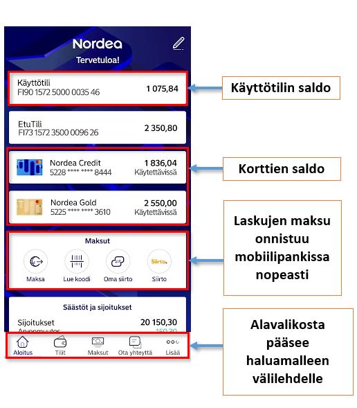 Mobiilipankki Nordea