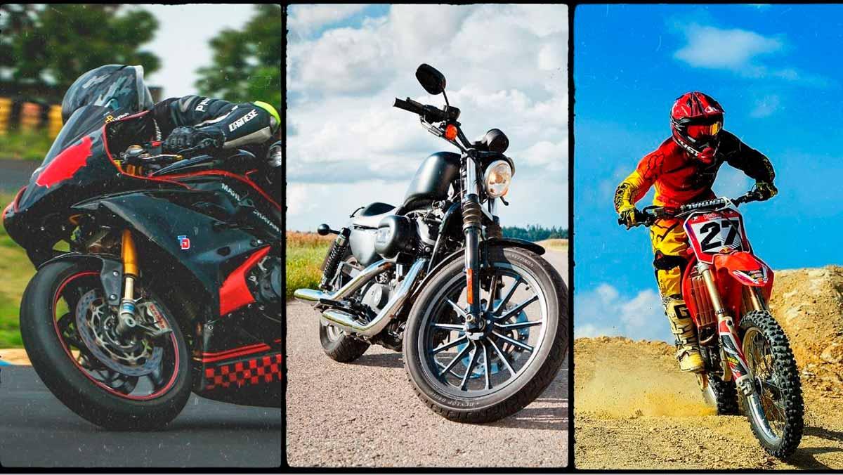 Moottoripyöriä on monia erilaisia