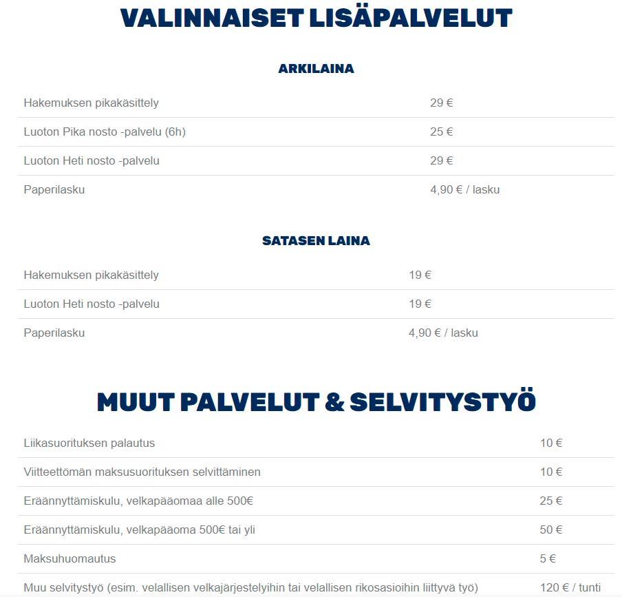 Bluefinance profiloituu pikavippiyhtiöksi