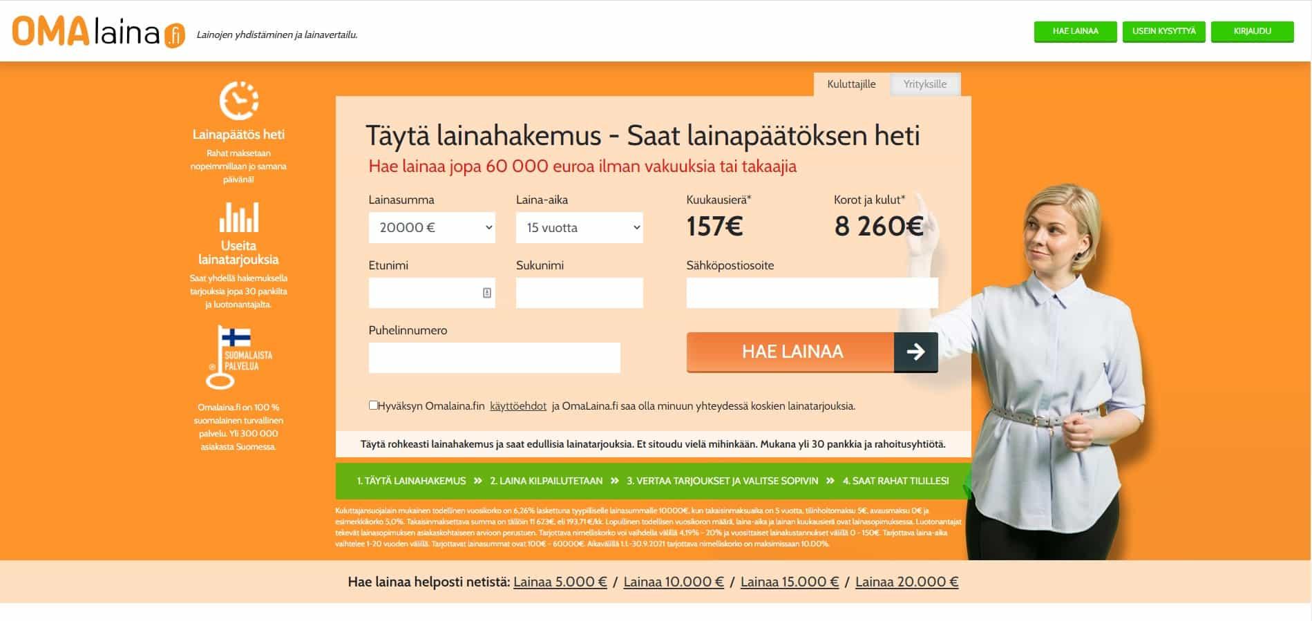Omalaina.fi etusivu