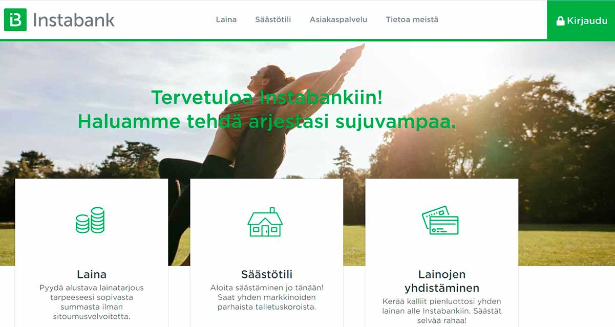 Instabank suomi etusivu