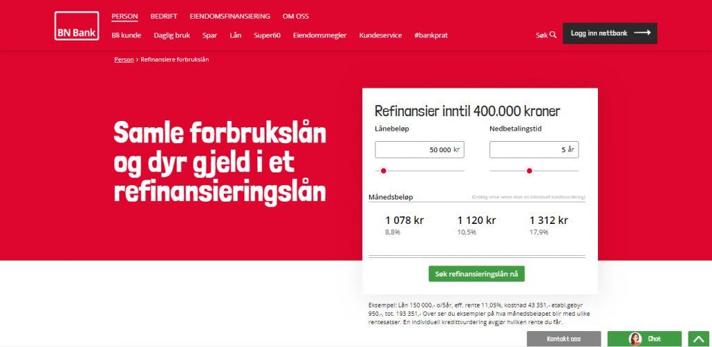 BN Bank søke lån