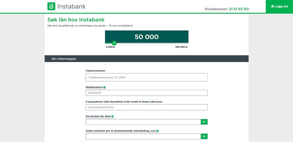 Søk lån hos Instabank