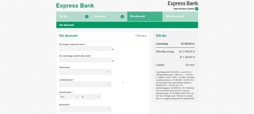 Express Bank trinn