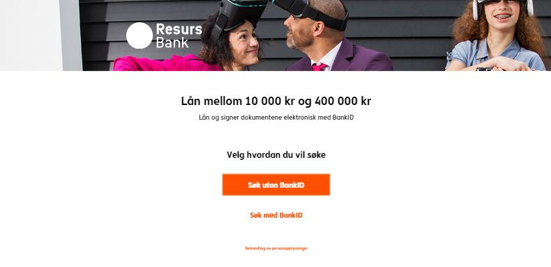 Søke med eller uten BankID