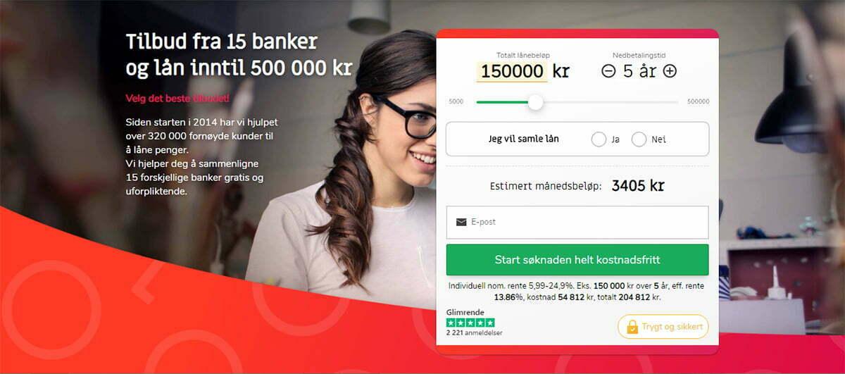 Anmeldelse av Sambla | første trinn i lånesøknaden