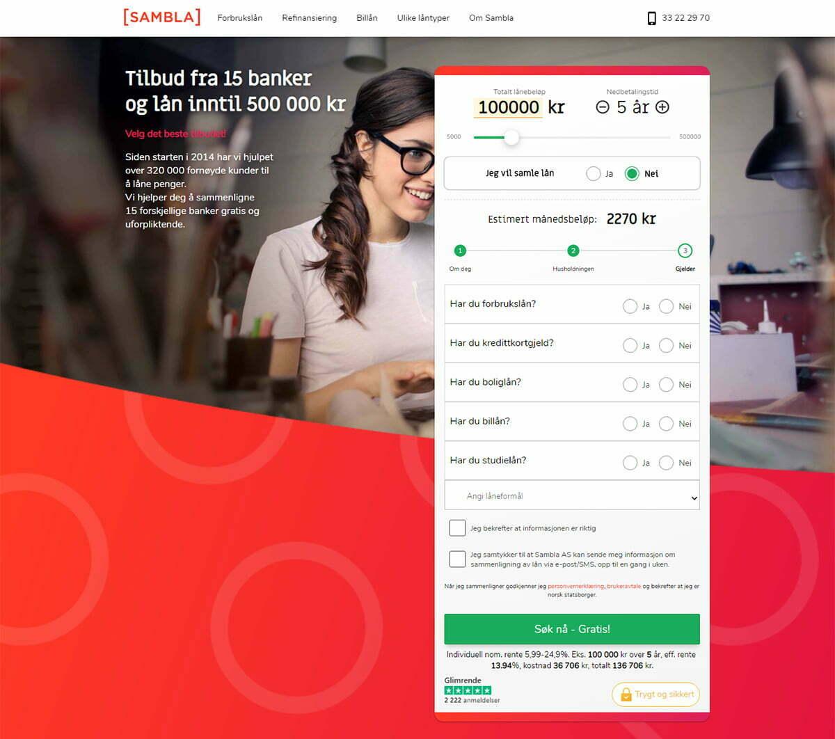 Anmeldelse av Sambla| siste trinn i lånesøknaden