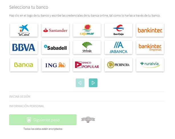 Monedo Now - Bancos soportados