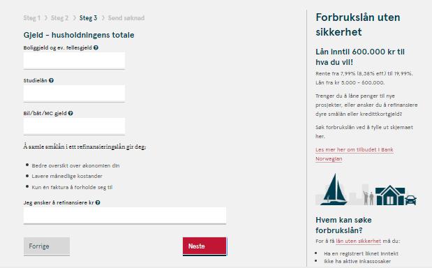 Anmeldelse av Bank Norwegian | Gjeld – husholdningens totale