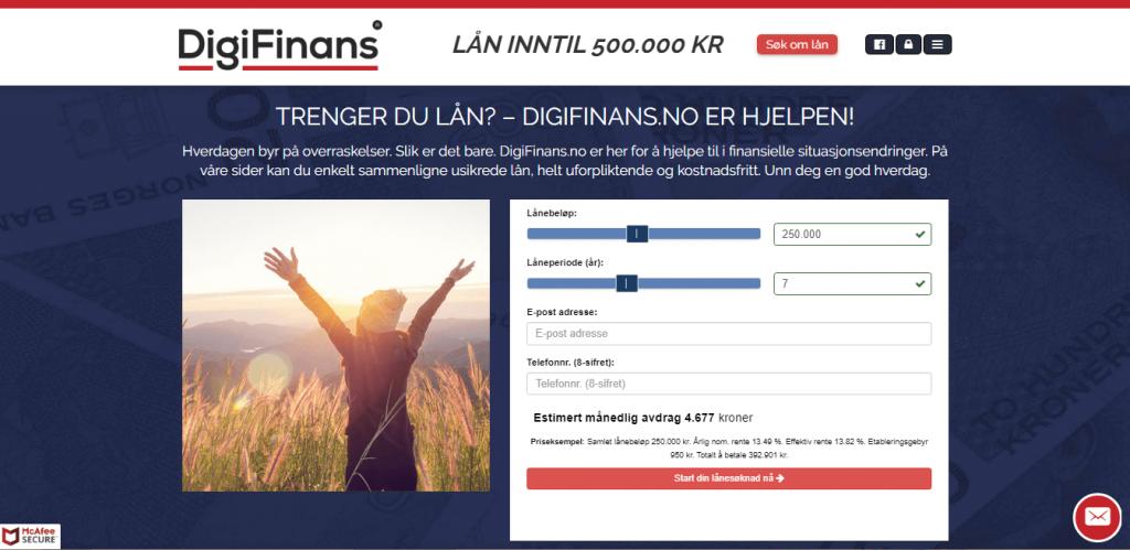 Anmeldelse av DigiFinans | Hjemmesiden til DigiFinans.