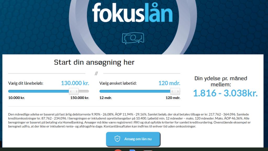 Anmeldelse af Fokuslån | Man skal vælge, hvad pengene skal bruges til.