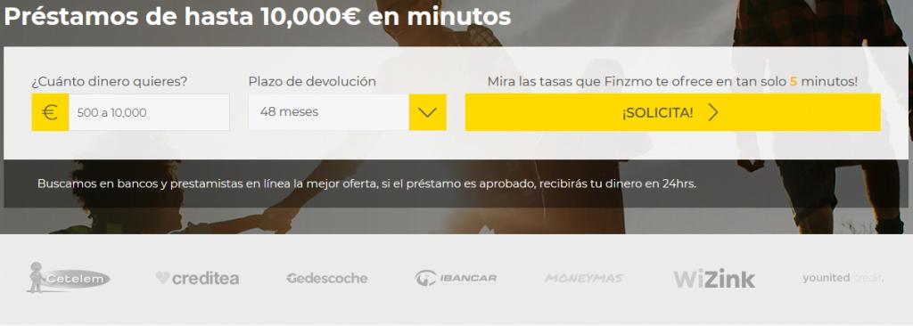 Préstamos hasta 10000 euros Finzmo
