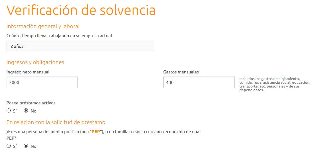 Creditstar verificar solvencia