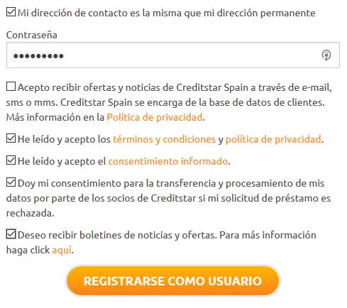 Creditstar registro