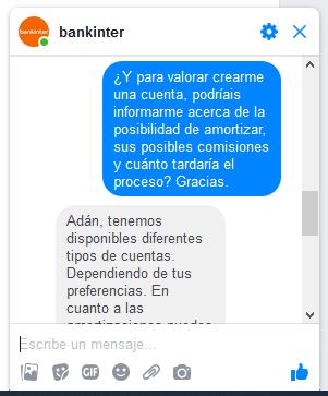 Chat de Bankinter 2